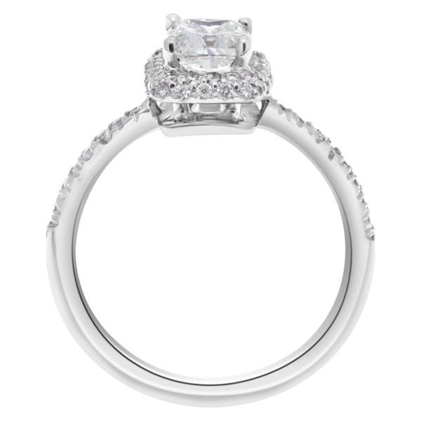 GIA certified rectangular modified cut 1.01 carat diamond (G color , VS1 clarity) ring