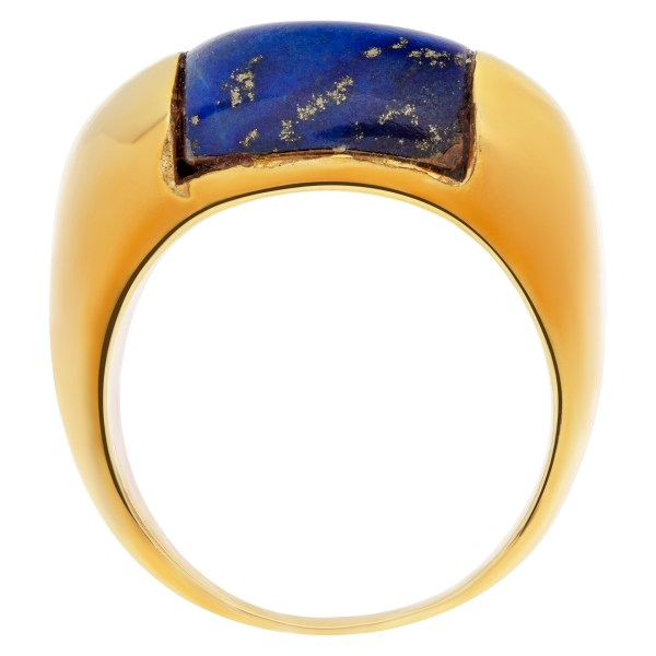 Ring with Lapis lazuli in 18k gold