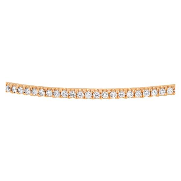 Diamond bracelet in 14k pink gold