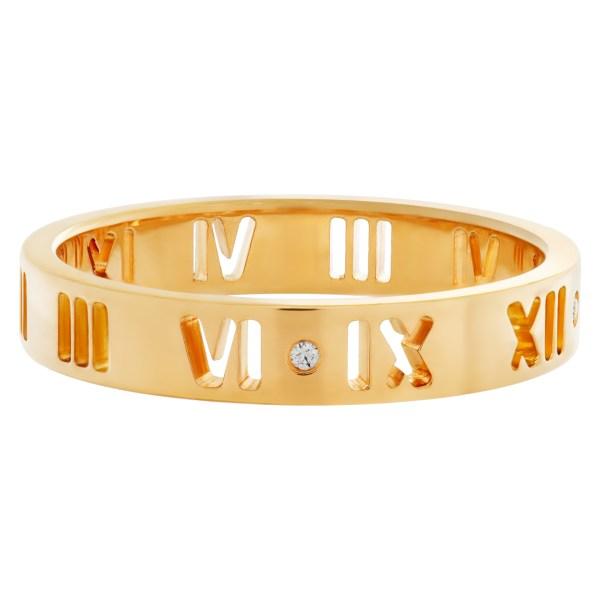 """Tiffany & Co. """"Atlas"""" diamond ring in 18k rose gold"""