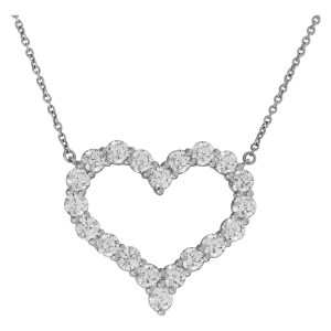 Tiffany & Co. Diamond Heart Pendant Necklace in platinum