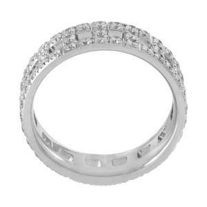 Tiffany &  Co. True T diamond ring in 18k white gold