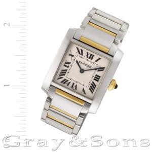 Cartier Tank Francaise W51012Q4 18k & steel 25mm Quartz watch