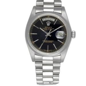 Rolex Day-Date 18046 platinum 36mm auto watch