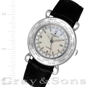 Vacheron Constantin World Time 48250/000G 18k white gold 36mm auto watch