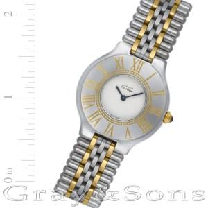 Cartier Must 21 901185182 18k & steel 30mm Quartz watch