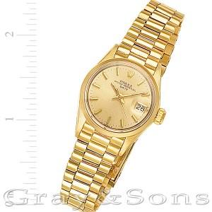 Rolex Date 6517 18k 26mm auto watch