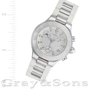 Cartier Chronoscaph 21 W10197U2 stainless steel 32mm auto watch