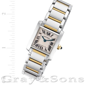 Cartier Tank Francaise W51007Q4 18k & steel 20.5mm Quartz watch