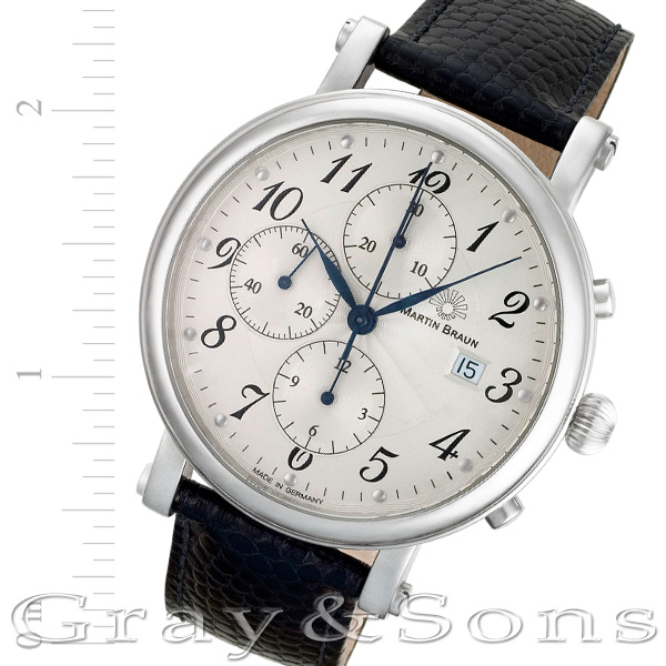 Martin Braun Chronograph stainless steel 42mm auto watch