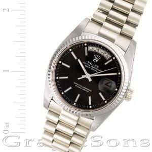 Rolex Day-Date 18039 18k white gold 36mm auto watch