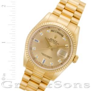 Rolex Day-Date 118238 18k 36mm auto watch