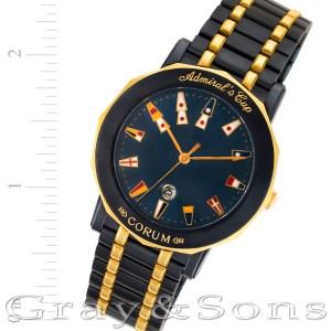 Corum Admirals Cup 99.430.31.V585 18k & blue steel 35.5mm Quartz watch