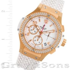 Hublot Big Bang 341.PE.230.RW.114 18k rose gold & ceramic 41mm auto watch