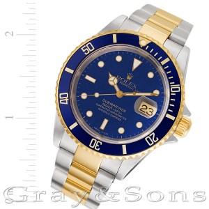Rolex Submariner 16613 T 18k & steel 40mm auto watch