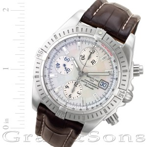 Breitling Chronomat Evolution a13356 stainless steel 42mm auto watch