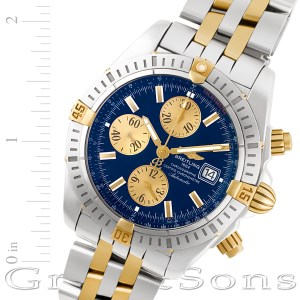 Breitling Chronomat Evolution b13356 18k & steel 44mm auto watch