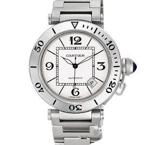 Cartier Pasha Seatimer w31080m7 stainless steel 40mm auto watch