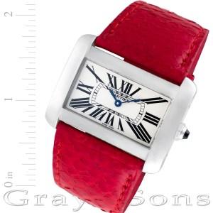 Cartier Divan W6300255 stainless steel 38mm Quartz watch