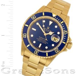 Rolex Submariner 16618 18k 40mm auto watch