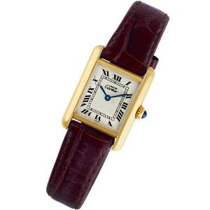 Cartier Tank vermeil 20.5mm Quartz watch
