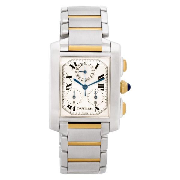 Cartier Tank Francaise W51004Q4 18k & steel 28mm Quartz watch