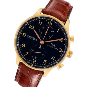 IWC Portuguese IW371482 18k rose gold 40mm auto watch