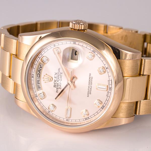 Rolex Day-Date 118205 F 18k rose gold 36mm auto watch