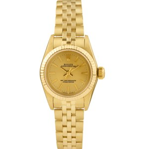 Rolex Oyster Perpetual 67197 14k 26mm auto watch