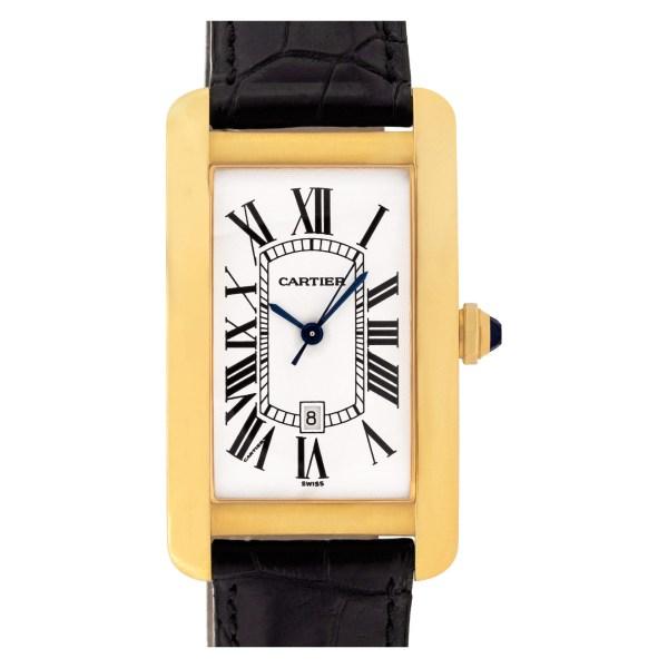Cartier Tank Americaine 1740 18k 27mm auto watch
