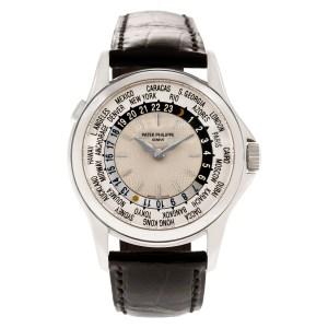Patek Philippe World Time 5110G-001 18k white gold 36mm auto watch
