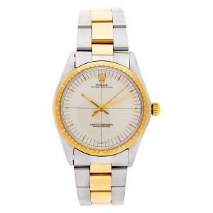 Rolex Oyster Perpetual 1038 18k & steel 34mm auto watch