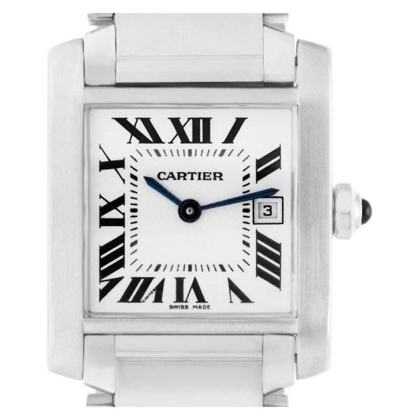 Cartier Tank Francaise W51011Q3 stainless steel 25mm Quartz watch