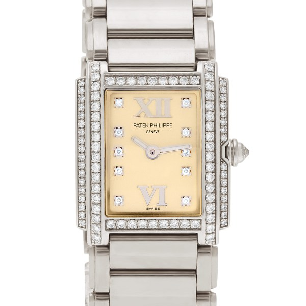 Patek Philippe Twenty 4 4908/200G-011 18k white gold 22mm Quartz watch