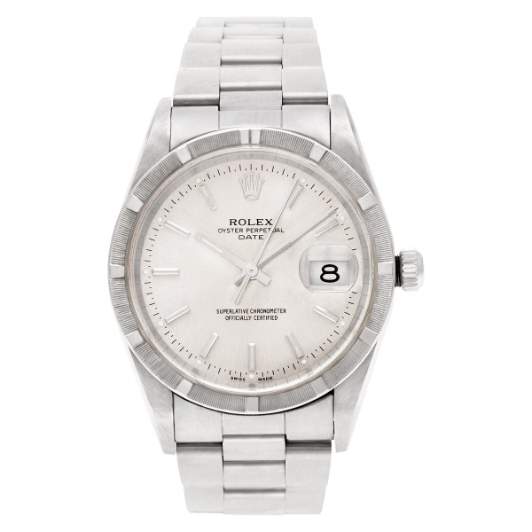 Rolex Date 1521 stainless steel 34mm auto watch