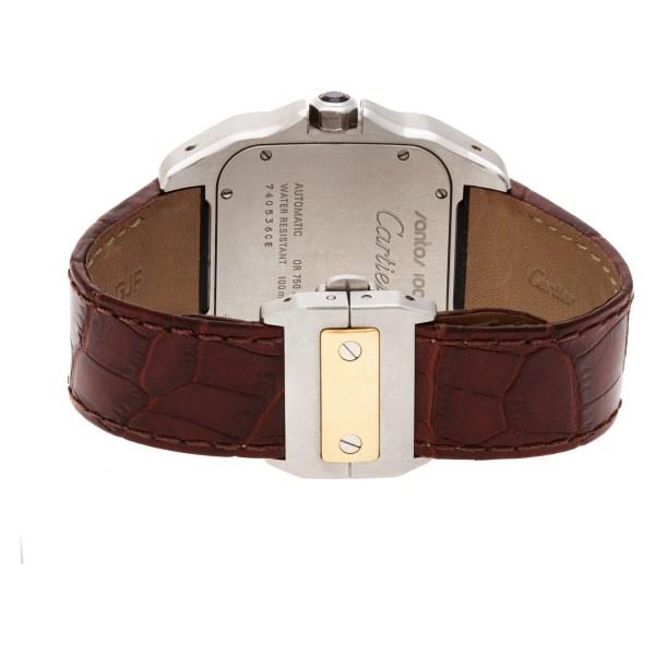 Cartier Santos 100 W20072X7 18k & steel 38mm auto watch