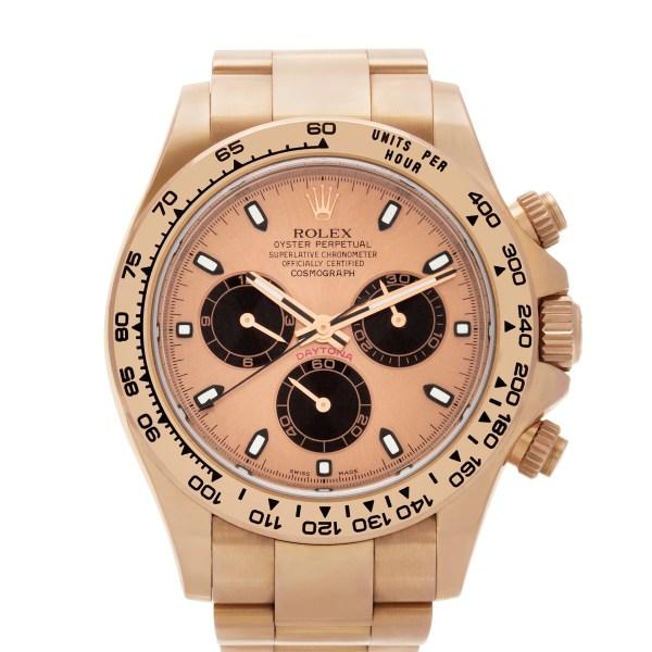 Rolex Daytona 116505 18k pink gold 40mm auto watch