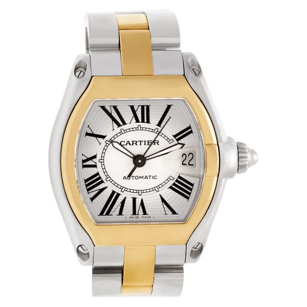 Cartier Roadster W62031Y4 18k & steel 38mm auto watch