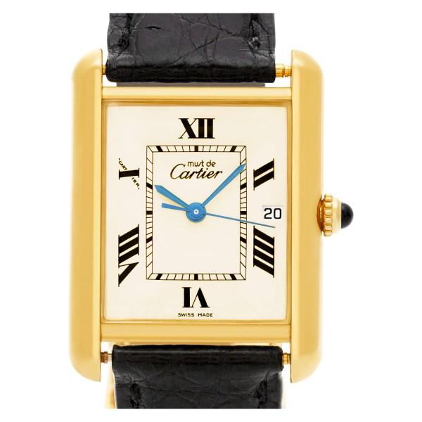 Cartier Tank 2413 vermeil 25mm Quartz watch