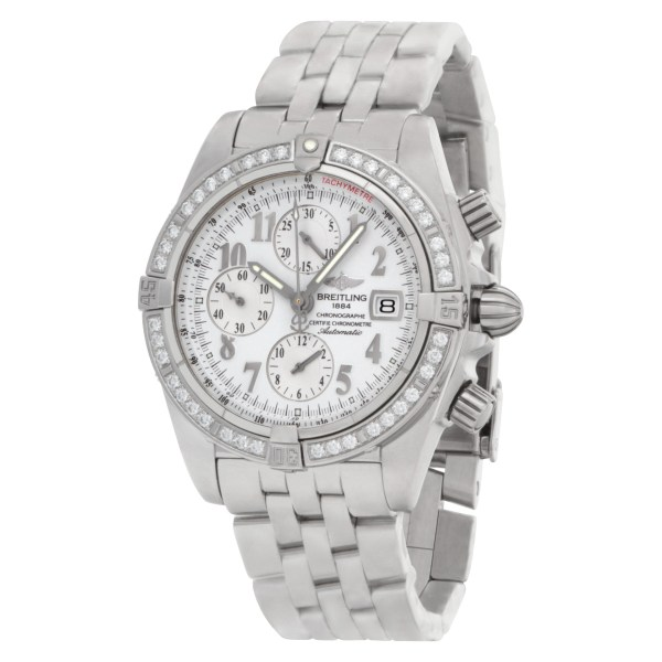 Breitling Chronomat Evolution A13356 Stainless Steel White dial 43mm Automatic w