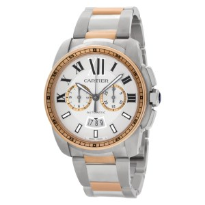Cartier Calibre W7100043 Stainless Steel White & Silver dial 43mm Automatic watc