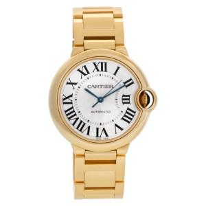 Cartier Ballon Bleu WGBB0011 18k Silver Guilloche dial 36mm Automatic watch