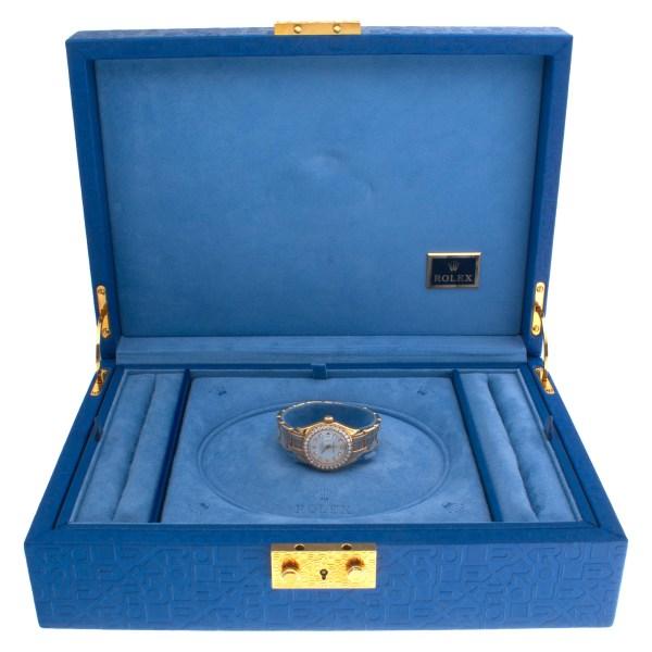 Rolex Pearlmaster 80298 18k with factory diamond dial & diamond bezel 29mm Auto