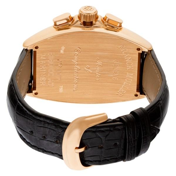 "Franck Muller Curvex ""Mariner"" 8080 CC AT 18k Pink Gold Black dial 42mm Automati"