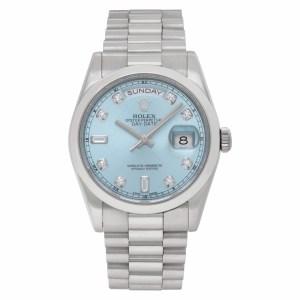 Rolex Day-Date 118206 Platinum Glacier Blue dial 36mm Automatic watch