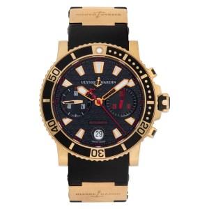Ulysse Nardin maxi diver 8006-102 18k 43mm auto watch