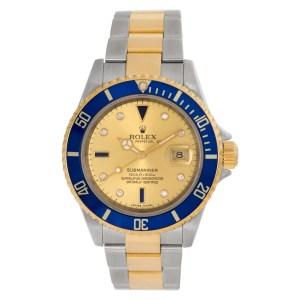 Rolex Submariner 16613 18k & steel 40mm auto watch