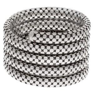 John Hardy Triple Coil dot braclet in sterling silver