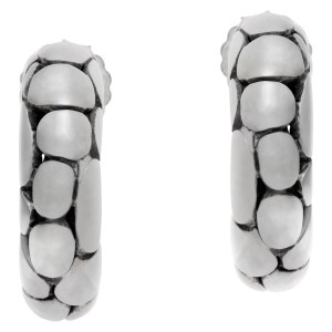 John Hardy Dot hoop earrings in sterling silver
