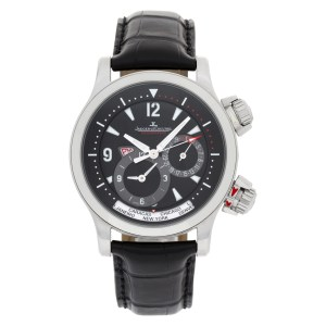Jaeger LeCoultre Geographic 146.8.83 stainless steel 41.5mm auto watch